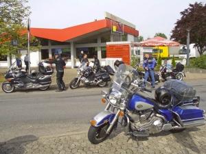 Kaffeepause an der Grenze zu Frankreich