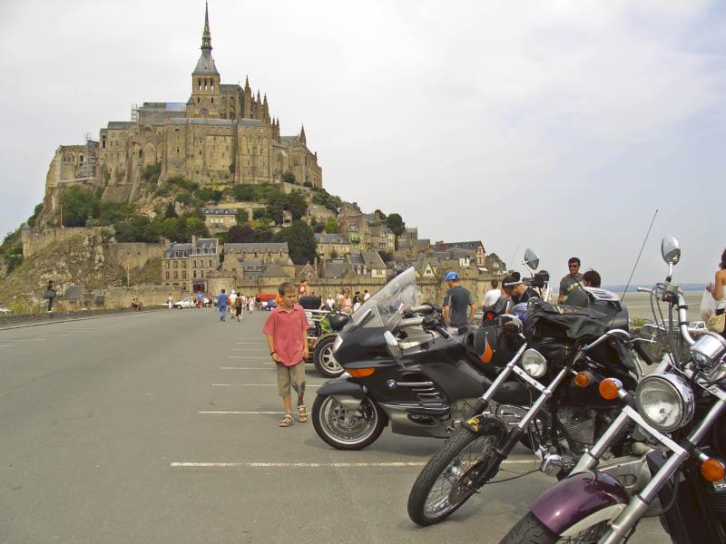 Mt. St. Michel - geschafft und zurück zu den Bikes