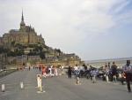 Mt. St. Michel - Damals noch mit Motorrad erreichbar
