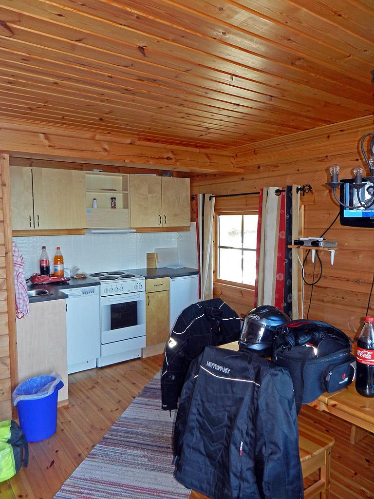 Furøy Camping Hütte Küche