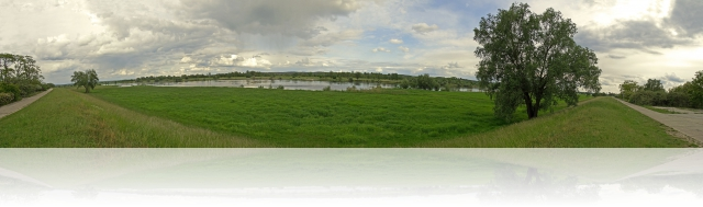Panorama an der Oder bei Hohensaaten