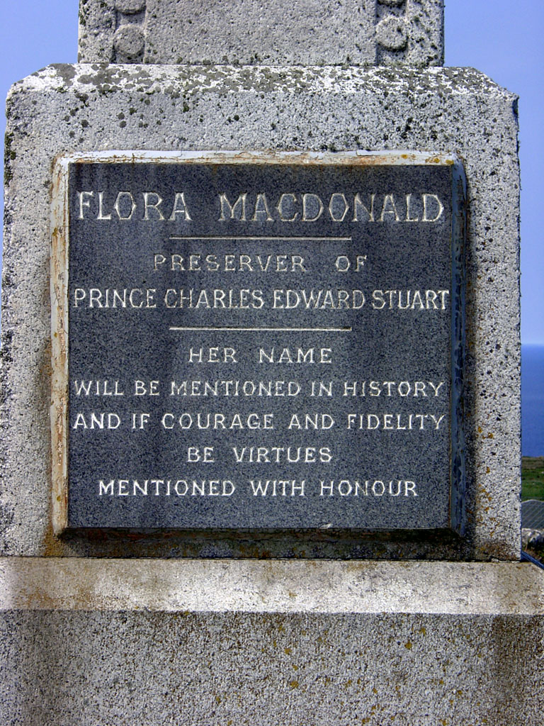 Kilmuir Friedhof Flora Macdonald Monument