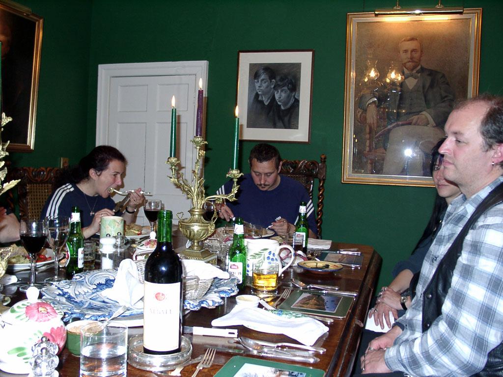 Abendessen auf der Corry Lodge Skye