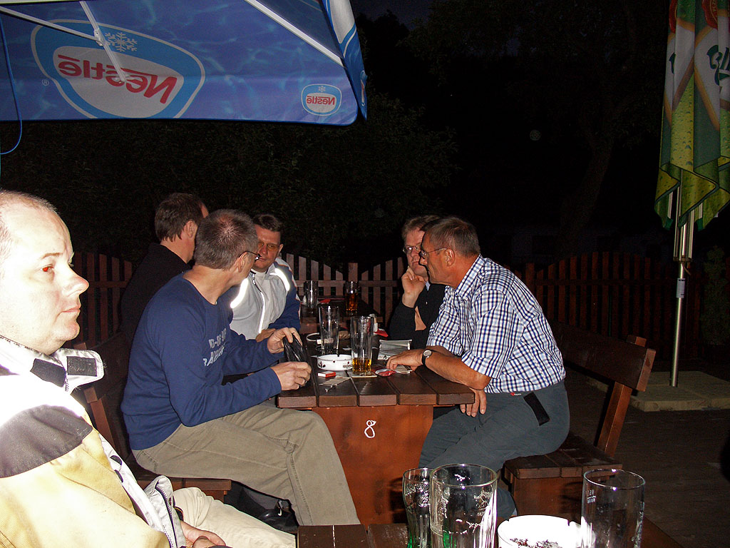 Villa Santini - abends noch ein kühles Bier, frisch vom Fass