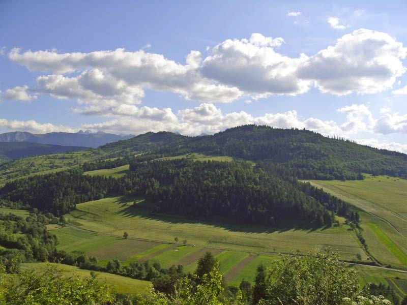 hohe Tatra von Rel'Ov aus gesehen