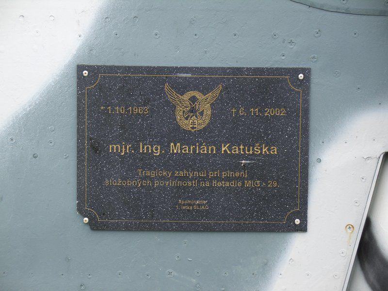 Gedenken an einen hier abgestürzten Mig-29 Piloten