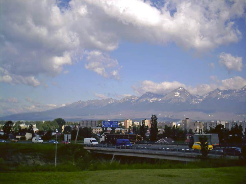 letzter Blick auf die Hohe Tatra