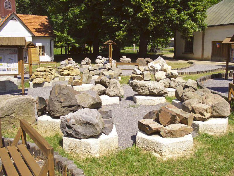 Geologie-Garten auf dem Minengelände