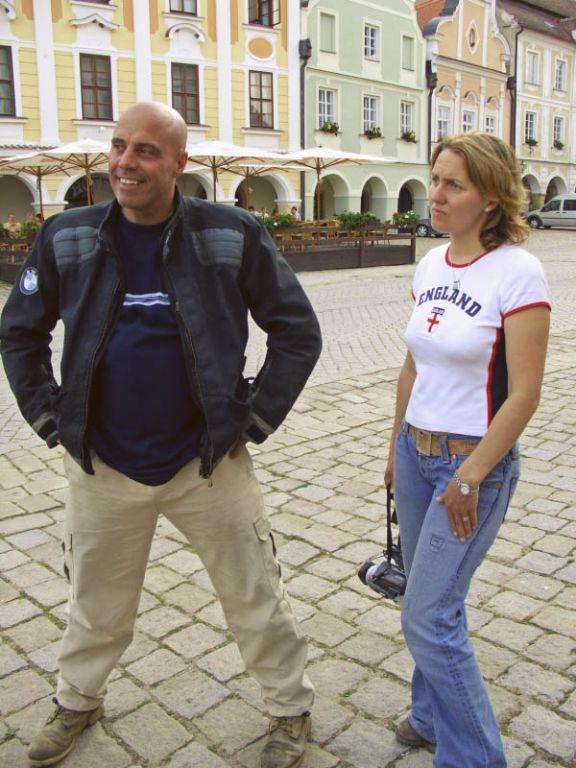 Simon and Monika Newbound in Telc
